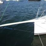 A carbon fiber bowsprit